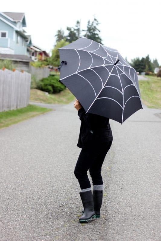 Spiderweb Umbrella Halloween Costume