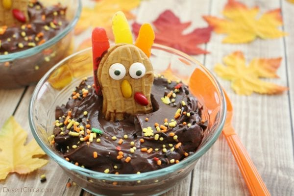 Thanksgiving Turkey Pudding Desert Chica