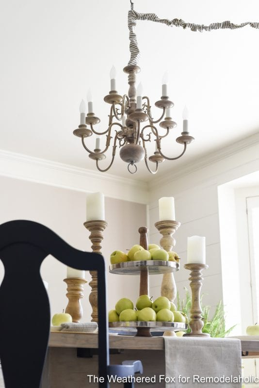 The Weathered Fox Chandelier Makeover 10