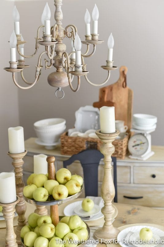 The Weathered Fox Chandelier Makeover 14