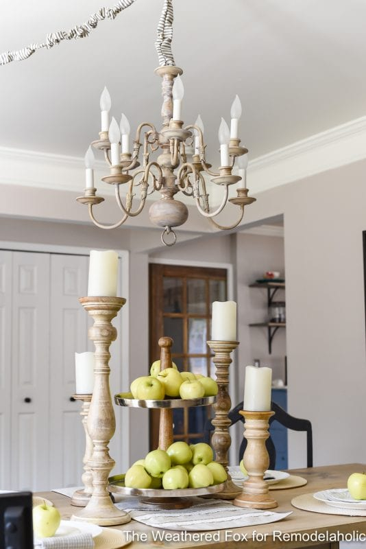 The Weathered Fox Chandelier Makeover 19