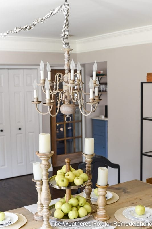The Weathered Fox Chandelier Makeover 20