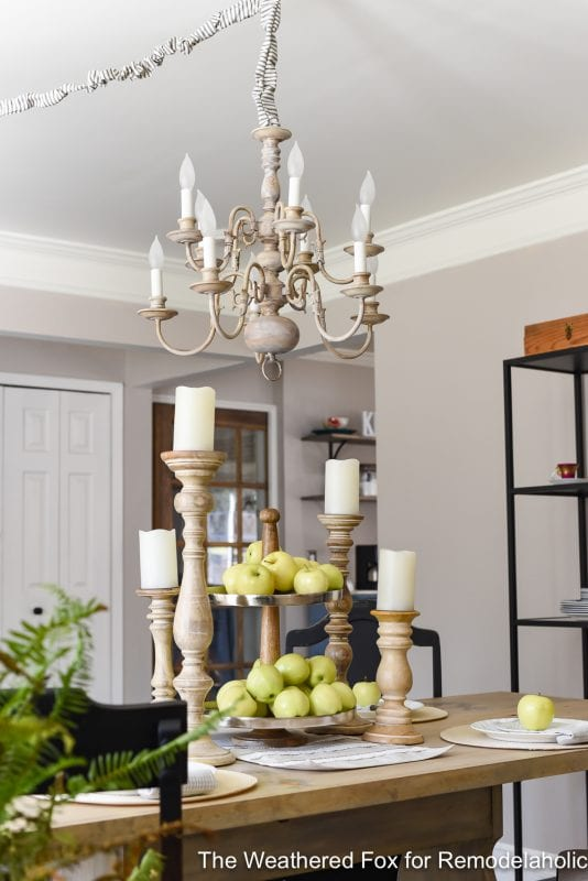 The Weathered Fox Chandelier Makeover 21