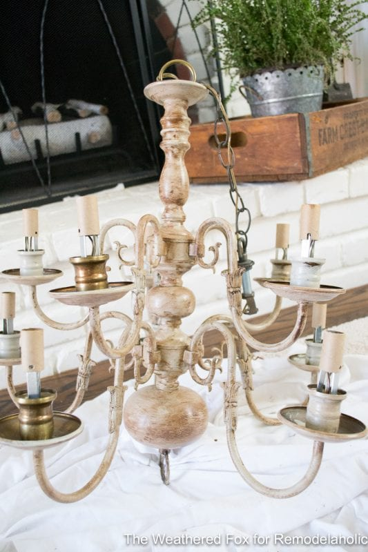 The Weathered Fox Chandelier Makeover 26