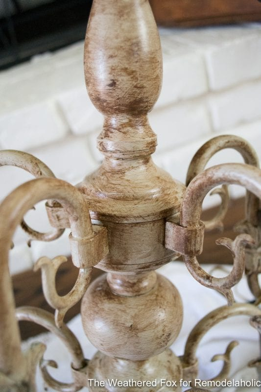 The Weathered Fox Chandelier Makeover 27