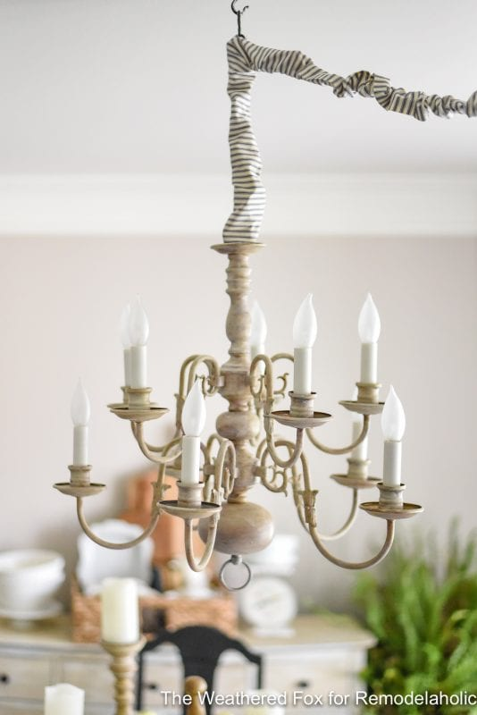remodelaholic diy plug in chandelier from thrifted hardwired light. Black Bedroom Furniture Sets. Home Design Ideas