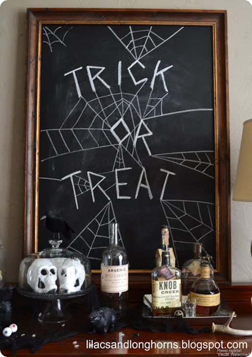 Trick Or Treat Halloween Chalkboard Knock Off Decor