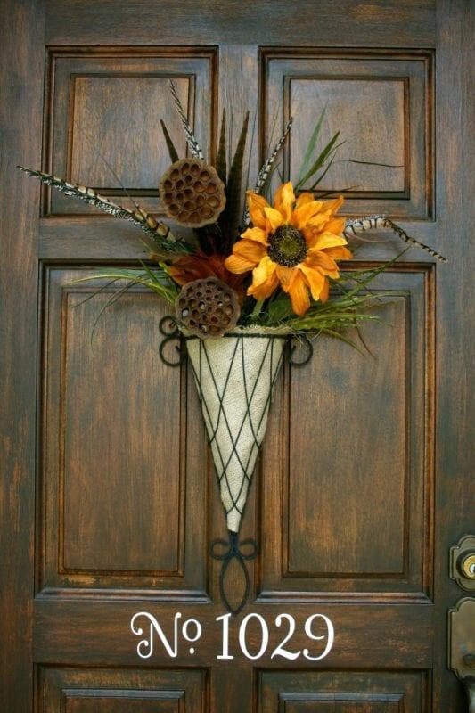 Beautiful Fall Flower Door Decoration Refresh Restyle 533x800