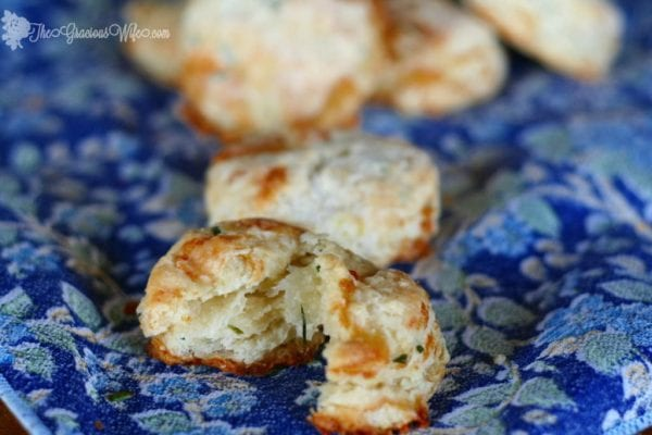 Brie And Chive Biscuits from thegraciouswife.com