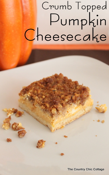 Crumb Topped Pumpkin Cheesecake Recipe The Country Chic Cottage