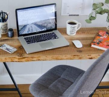 IKEA Hack: Easy DIY Live Edge Desk with Trestle Legs