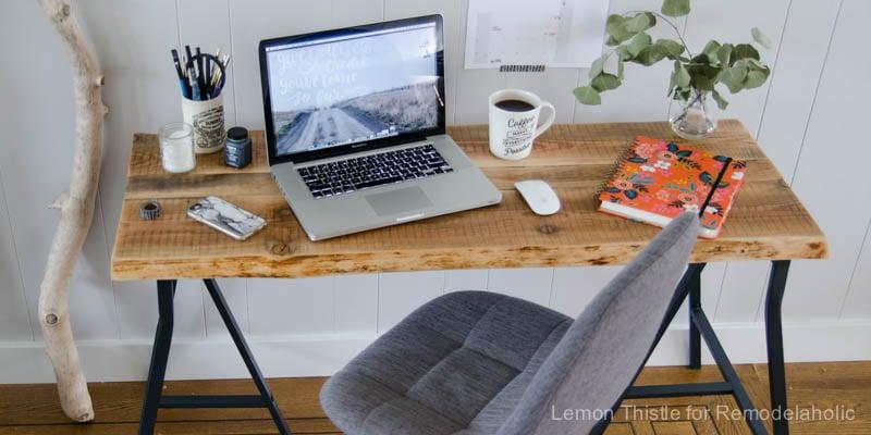 Remodelaholic   IKEA Hack: Easy DIY Live Edge Desk with ...