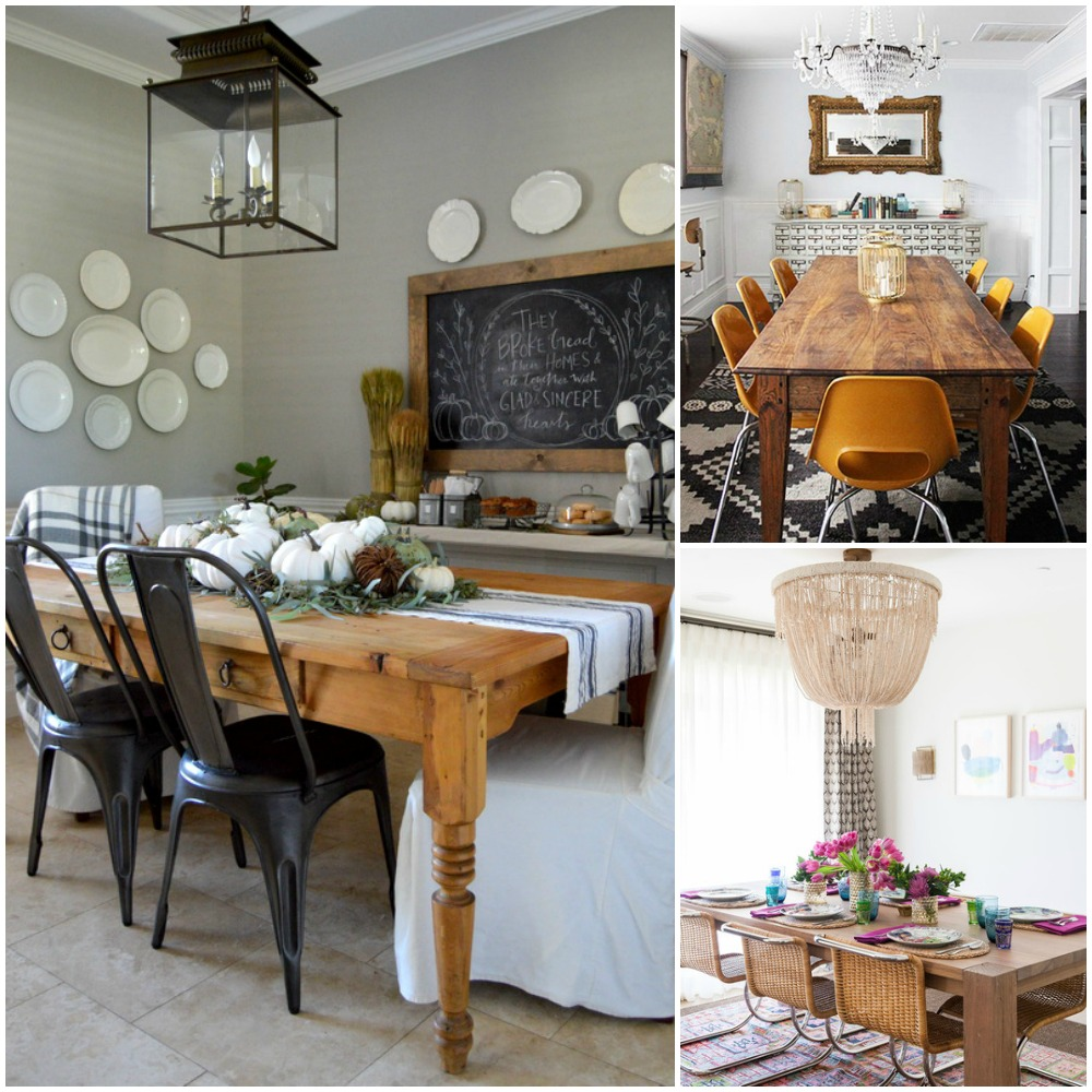 Room Decoration: One Dining Room: Three Different Ways