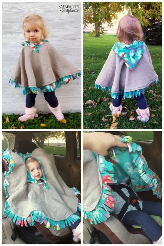 Diy Car Seat Buckle Safe Coat Fleece Poncho Reality Daydream