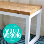 Diy Chevron Bench With Box Frame Legs, Woodworking Plan, HerToolbelt For Remodelaholic