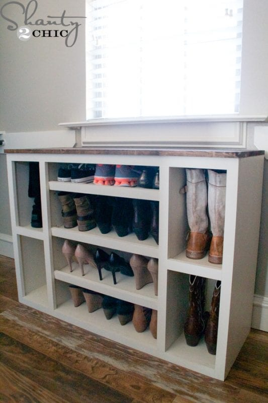 Diy Shoe Storage Cabinet With Room For Boots Shanty2Chic