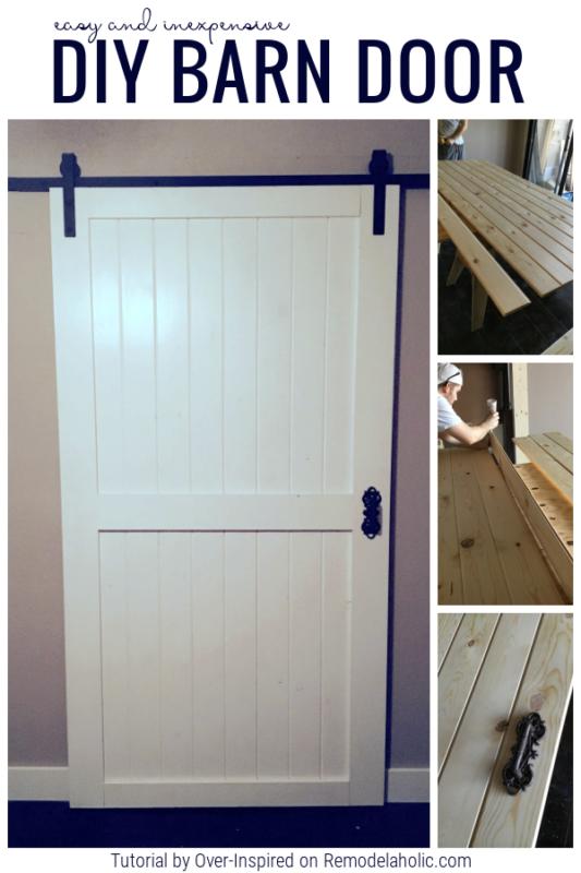 Easy DIY Barn Door For Cheap On Remodelaholic