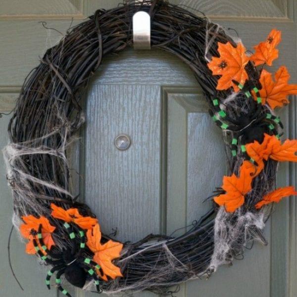easy halloween wreath diy