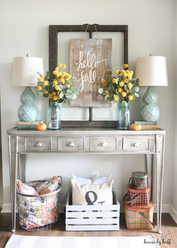 Fall Vignette And DIY Sign House By Hoff