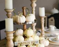 Feat Beautiful Neutral Thanksgiving Tablescape The Weathered Fox