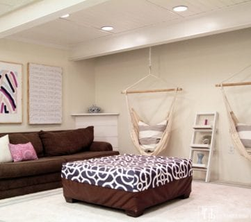 Feat Diy Beadboard Ceiling In Basement @Remodelaholic