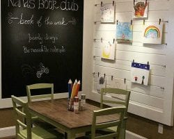 Feat Kids Reading And Art Nook Via @Remodelaholic