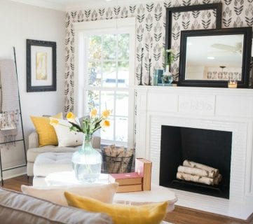 """Get This Look: Contemporary Farmhouse Living Room 