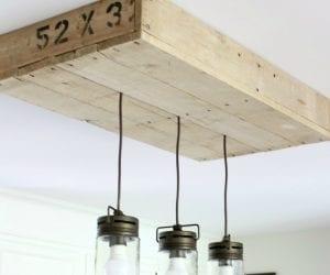 pallet wood light box DIY tutorial
