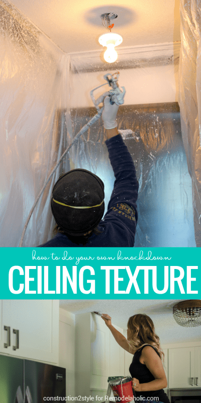 How To Apply Your Own Knockdown Ceiling Texture -- replace those popcorn ceilings! Tutorial from construction2style on Remodelaholic.com