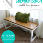 How To Build A DIY Wood Bench With Herringbone Chevron Top And Box Frame Base Legs, Remodelaholic