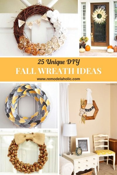 25 Unique DIY Fall Wreath Ideas