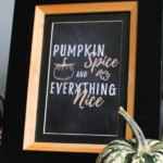 Pumpkin Spice And Everything Nice Handlettered Fall Printable Wall Art, AD Aesthetic For Remodelaholic
