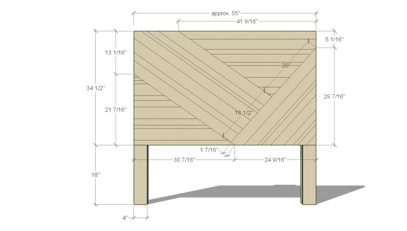 Rustic Pieced Wood Headboard Pattern