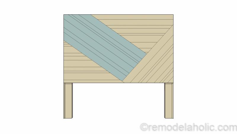 Rustic Pieced Wood Headboard 11 1