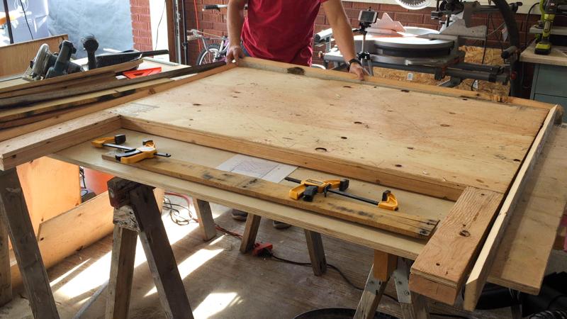 Rustic Pieced Wood Headboard 11