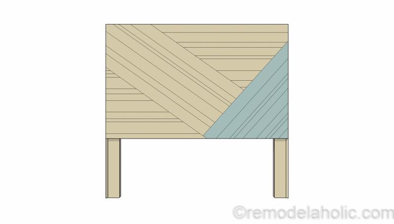 Rustic Pieced Wood Headboard 12 1