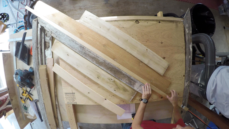 Rustic Pieced Wood Headboard 12