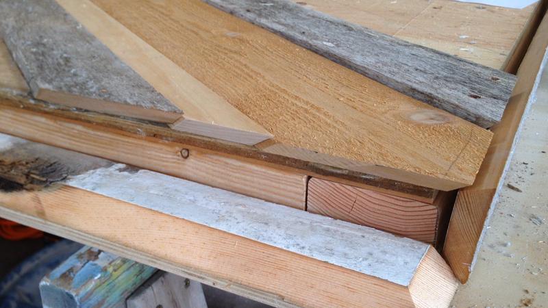 Rustic Pieced Wood Headboard 13