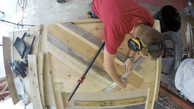Rustic Pieced Wood Headboard 14