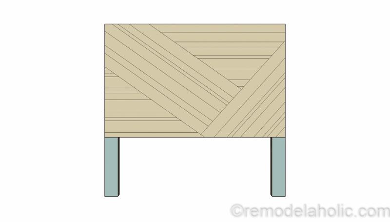 Rustic Pieced Wood Headboard 15 1