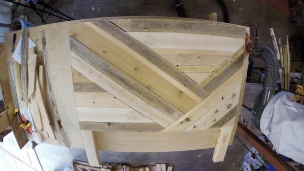 Rustic Pieced Wood Headboard 15