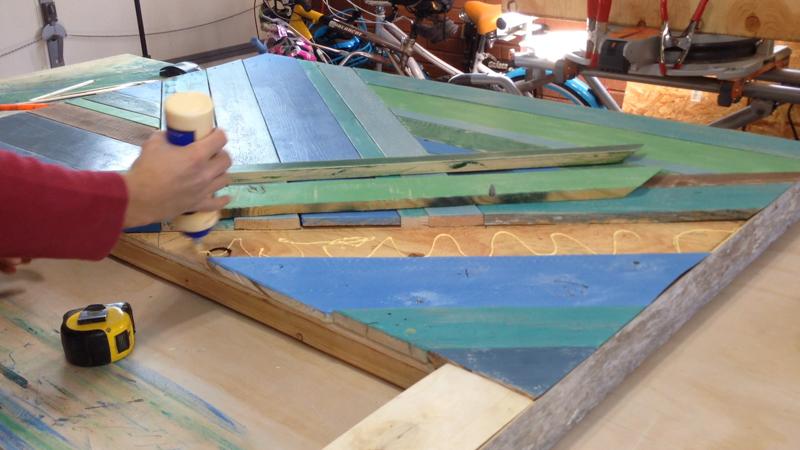 Rustic Pieced Wood Headboard 17
