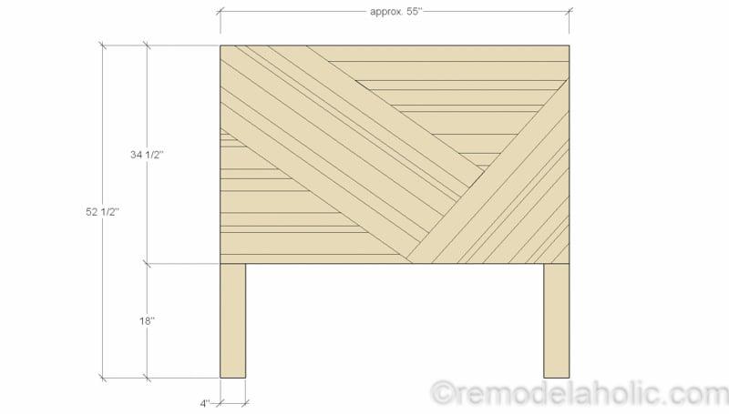 Rustic Pieced Wood Headboard 2 1