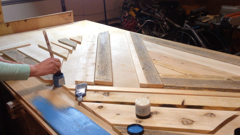 Rustic Pieced Wood Headboard 20