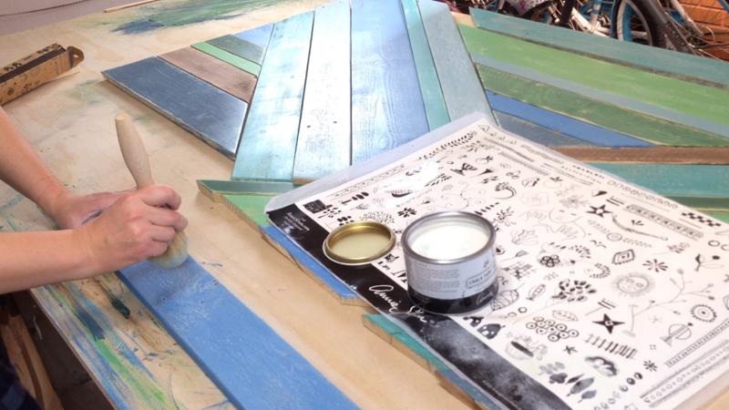 Rustic Pieced Wood Headboard 22