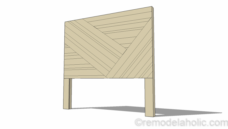 Rustic Pieced Wood Headboard 4 1