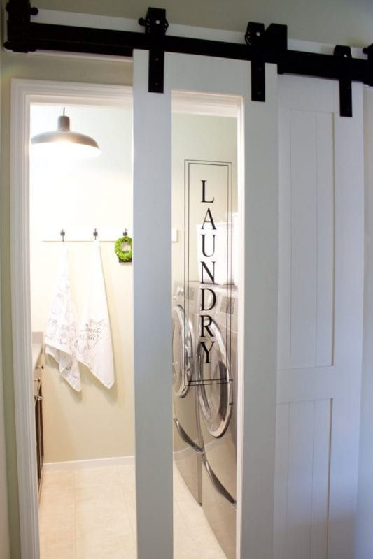 Sliding Glass Laundry Barn Door A House And A Do