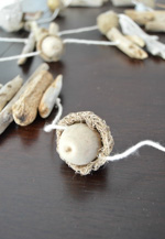 Driftwood and Acorn Garland