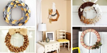 Decorate your home with one of these awesome ideas for a diy wreath for your home for fall featured on Remodelaholic.com