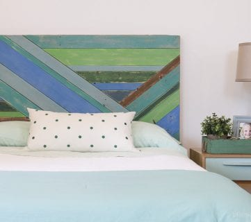 Wood Pieced Headboard Painted With Annie Sloan Chalk Paint @remodelaholic 9842